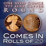 .999 Fine Copper Bullion Walking Liberty Collectable Coin Round